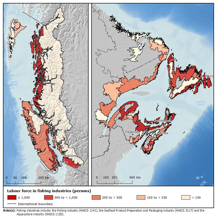 Map 2: Marine coastal fisheries ecumene,2006 - Description