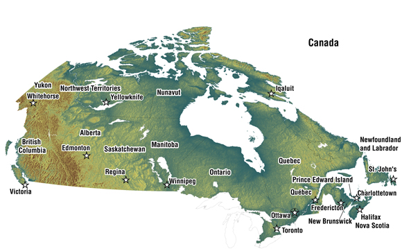 Geography - Geography map of canada