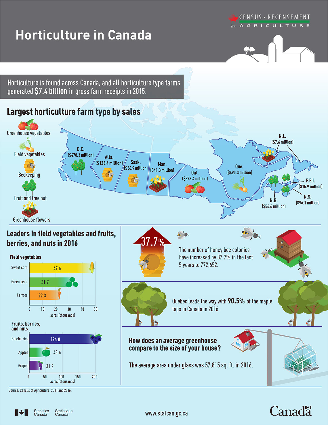 Infographic: Horticulture in Canada